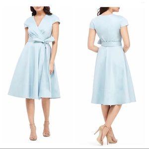 Gal Meets Glam Addison Tie Waist Fit & Flare Dress